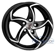 NZ Wheels F-17 BKF 6.5x16/5x108 D63.3 ET50 - фото 1