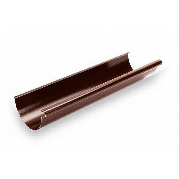 Желоб водосточный 124/80 ПВХ темно-коричневый