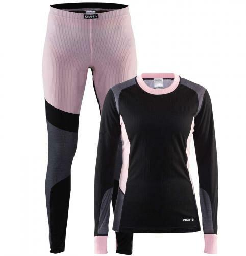 Комплект термобелья CRAFT Baselayer женский 1905331-999701 черный/розовый