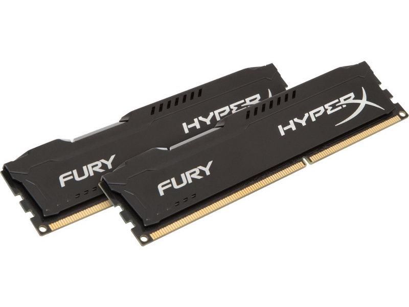 Модуль памяти Kingston HyperX Fury Black Series PC3-15000 DIMM DDR3 1866MHz CL10 - 16Gb KIT (2x8Gb) HX318C10FBK2/16