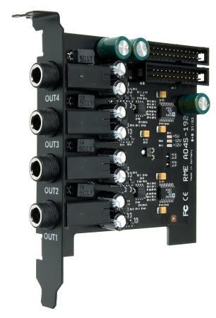 RME AO4S-192-AIO 4-канальная карта расширения аналоговых выходов, 24 Bit / 192 kHz, для HDSPe AIO и HDSP 9632
