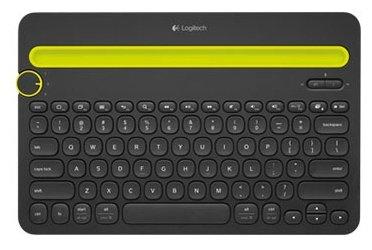 Клавиатура Logitech K480 Wireless Bluetooth Multi-Device Keyboard Black USB 920-006368