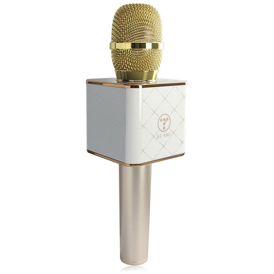 Беспроводной караоке микрофон Tuxun Q7 - Золотой