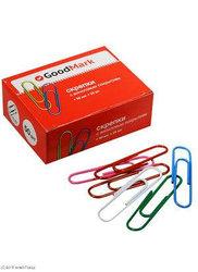 Скрепки 50мм 50шт/уп GoodMark, виниловые, круглые в картон.упаковке P036050C