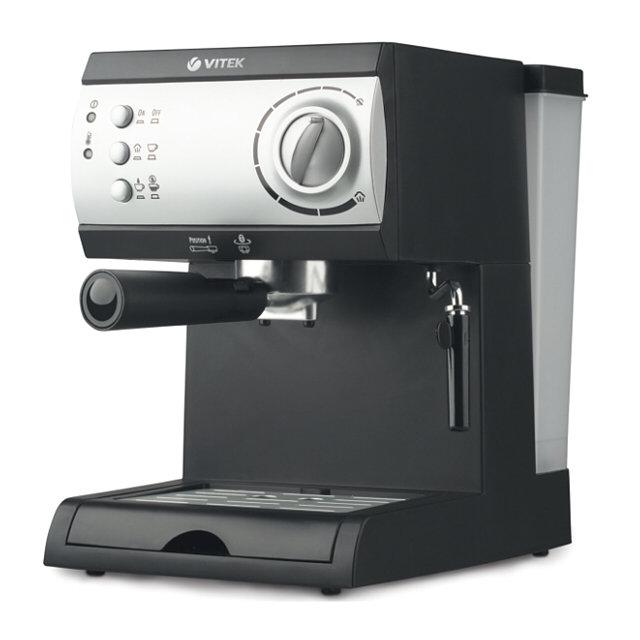 кофеварка эспрессо vitek vt-1511 1050вт 15бар механ.