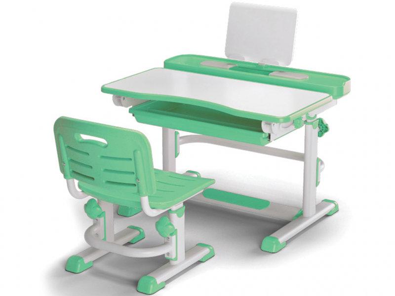 Комплект детской мебели Mealux EVO BD-04 New XL (стол и стул) белый/зеленый