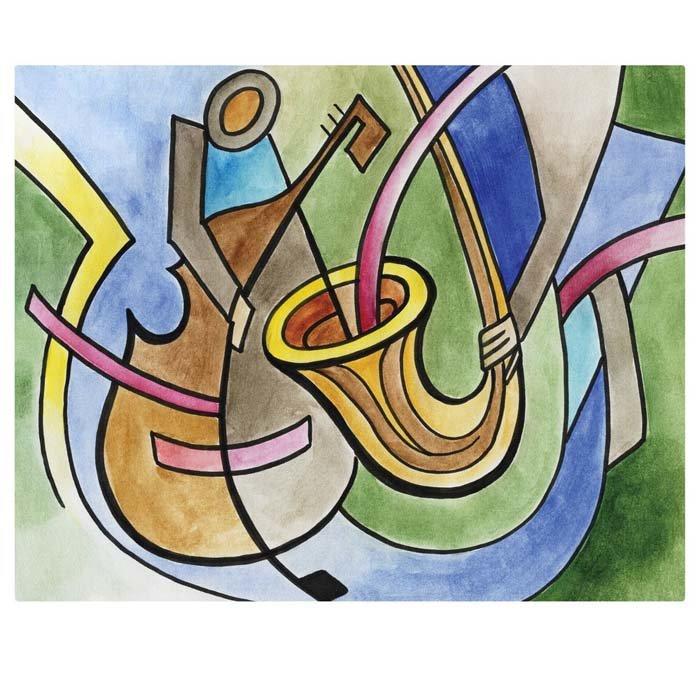 Постер в раме «Музыкальная абстракция», 40х50 см