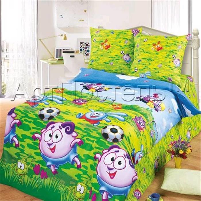 Комплект детского постельного белья (1,5 спальное) Арт-Постель 140 арт. Смешарики «Футбол»