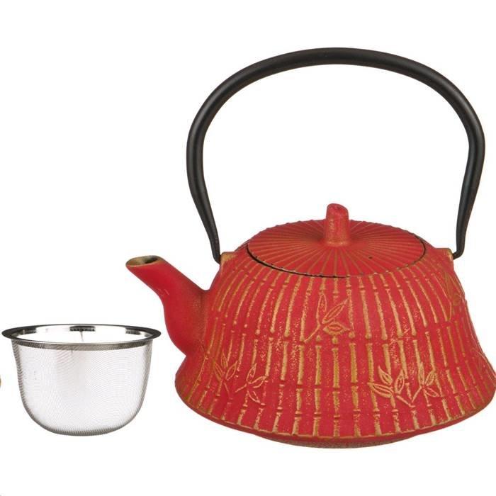 п-да/чай Lefard 734-053 заварочный чайник чугунный с эмалированным покрытием внутри 1200 мл. (кор=8шт.)