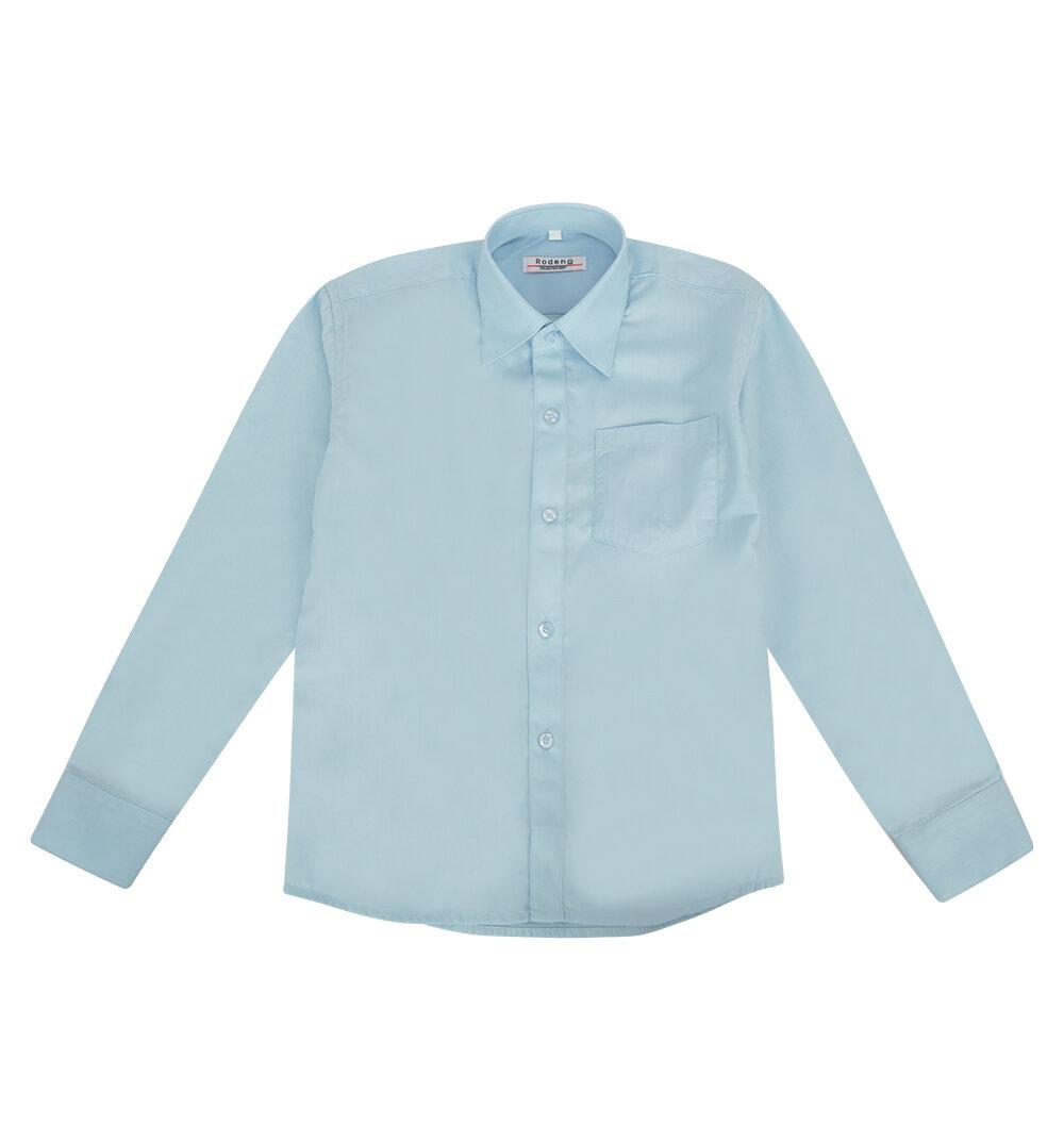 Рубашка Rodeng цвет: голубой, для мальчиков, размер 116