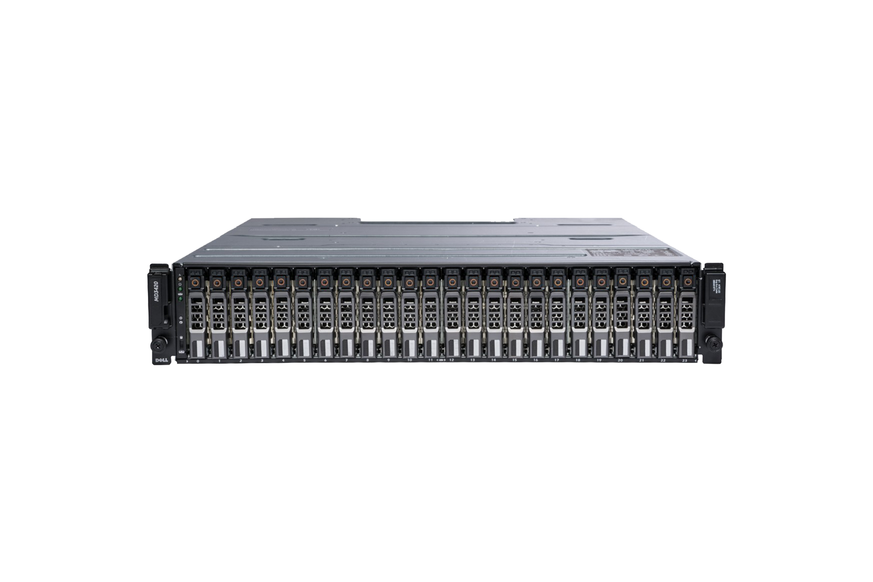 СХД Dell PowerVault MD3420 - 2xSAS 12Gb Dual Controller/4G Cache/No HDD (up to 24x2.5)/ 2x600W