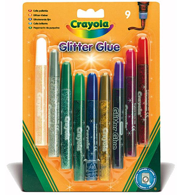 Клей Crayola с блестками