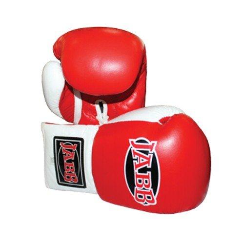 Перчатки боксерские Jabb JE-2000, красно-белые, 10 унций