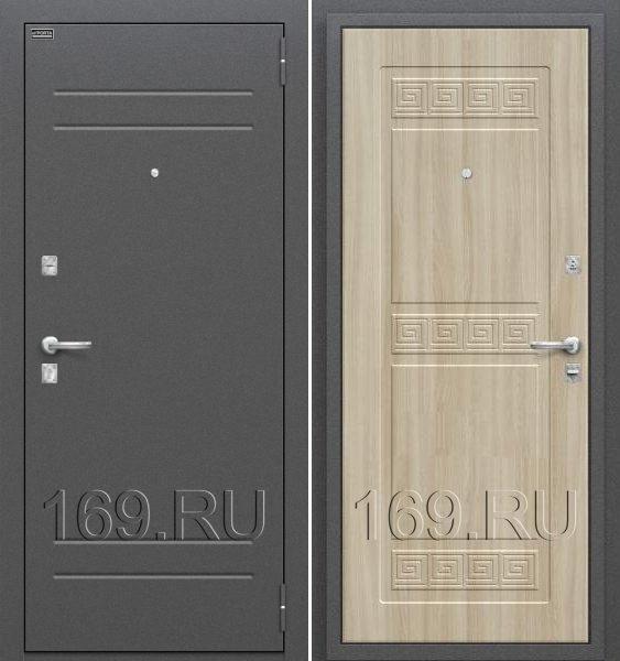 Дверь входная металлическая Оптим «Трио» Шимо Светлый