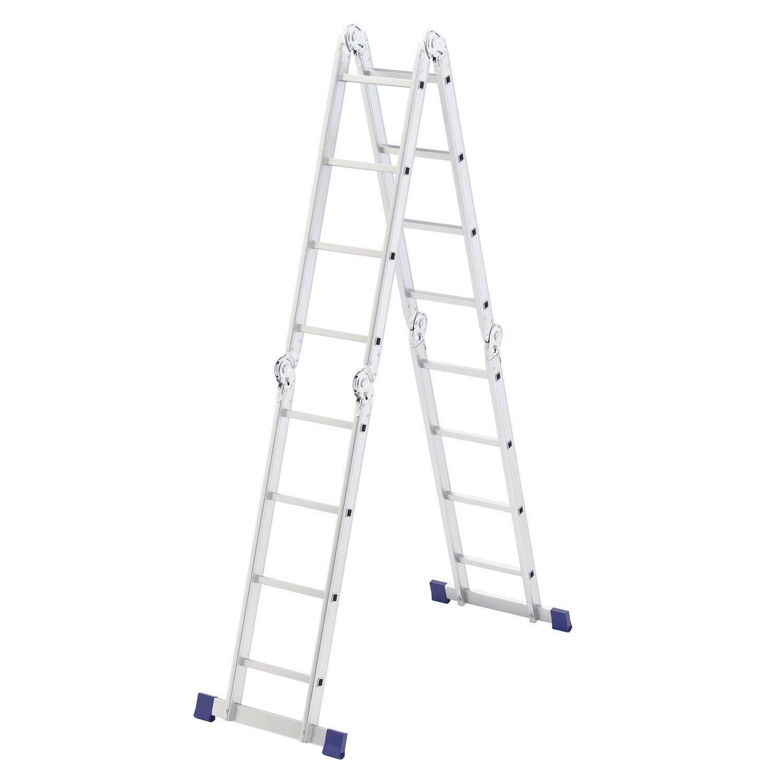 Лестница Сибртех трансформер 4х4 алюминиевая до 120 кг