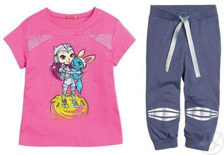 Спортивный костюм футболка/брюки Pelican ', цвет: розовый