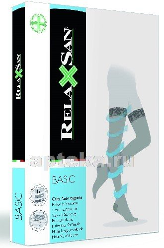 Relaxsan basic чулки компрессионные stay-up 70den 12-17mmhg размер 3/телесный