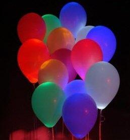 ВесЛандия Облако из светящихся шаров Декоратор Ассорти 30 шаров