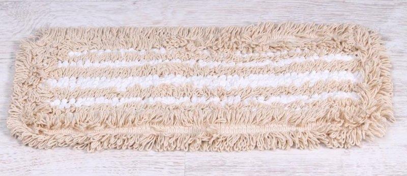 Насадка для швабры HAUSMANN ECO-MICRO, универсальная 41*11,5 см, хлопок/микрофибра, бежевый