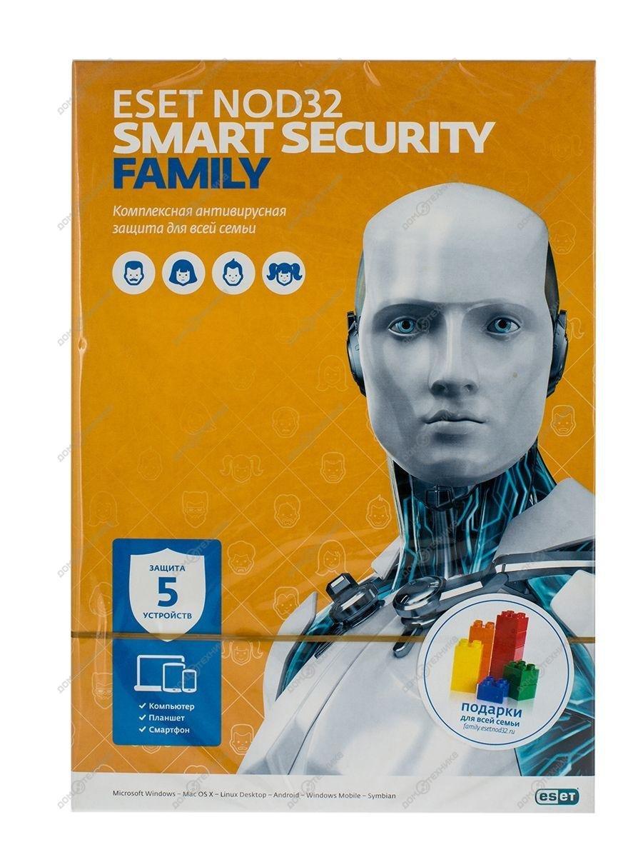 ПО ESET NOD32 Smart Security Family [NOD32-ESM-NS]