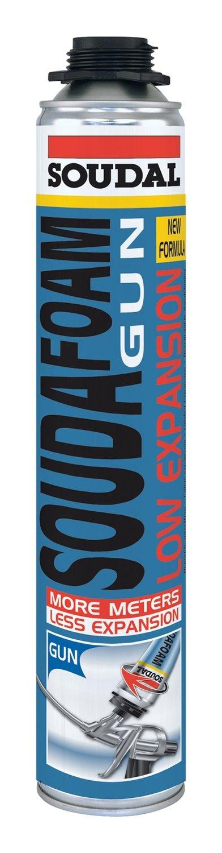 Soudal Soudafoam Gun Low Expansion 106132 Монтажная пена с низким расширением (летняя, пистолетная, 750 мл)