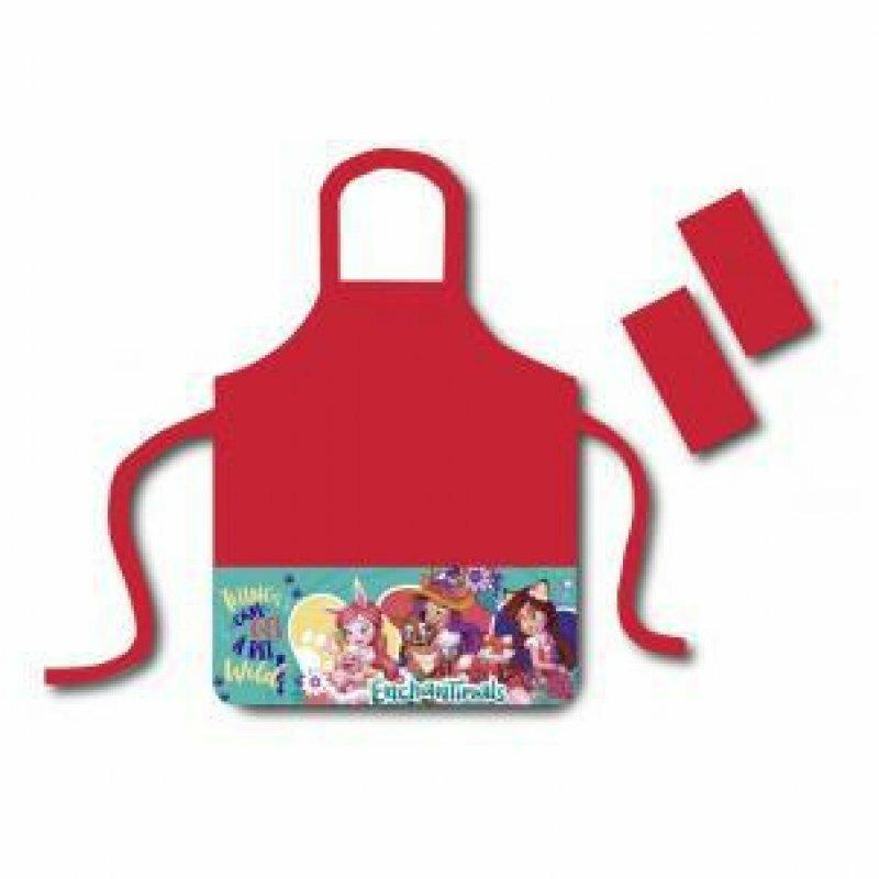 Фартук для труда с карманами Enchantimals, в комплект входят нарукавники CENTRUM 88691