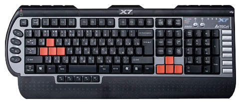 Клавиатура A4Tech X7-G800MU Black/Grey PS/2