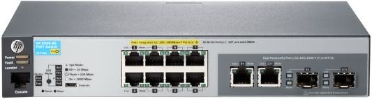 Маршрутизатор и коммутатор Коммутатор HP 2530-8G-PoE+ управляемый 8 портов 10/100/1000Mbps 2xSFP PoE J9774A