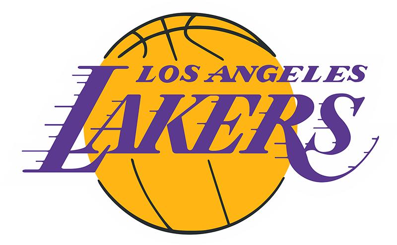 Интерьерная наклейка LA Lakers 16 см х 10 см