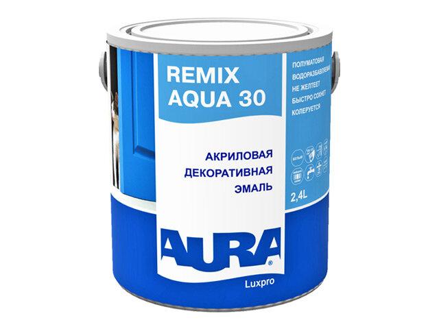 эмаль акриловая AURA LUXPRO REMIX AQUA 30 2,4л, арт.4607003915797