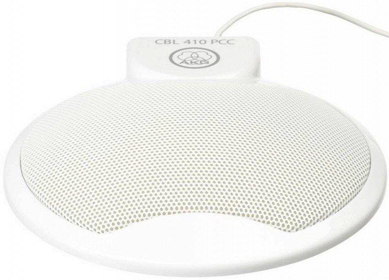AKG CBL 410 PCC настольный конденсаторный микрофон, всенаправленный, 20-20000Гц, 3,5 mm stereo jack, цвет - белый