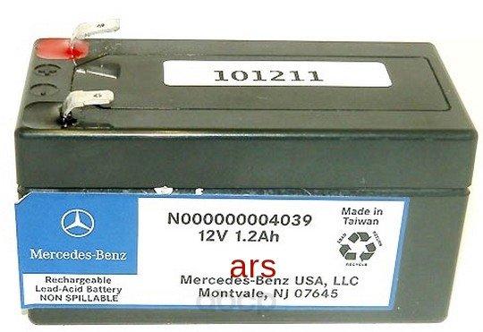 Батарея аккумуляторная 12v 1,2ah. MERCEDES-BENZ арт. N000000004039