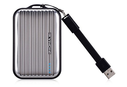 Внешний аккумулятор IP36AD2 Внешний аккумулятор Momax iPower GO Mini+ 10000 мАч серебристый