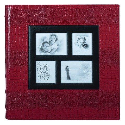 Фотоальбом BRAUBERG на 500 фотографий 10х15 см, обложка под кожу крокодила, красный