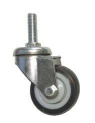 Колесо поворотное резьба м10 d=50мм мягкая резина (арт.3062050м)