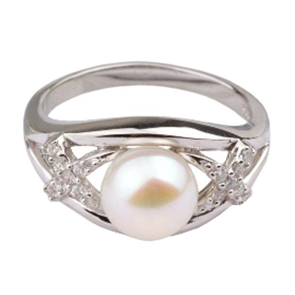 Серебряное кольцо De Luna с жемчугом и фианитами RS2858PE