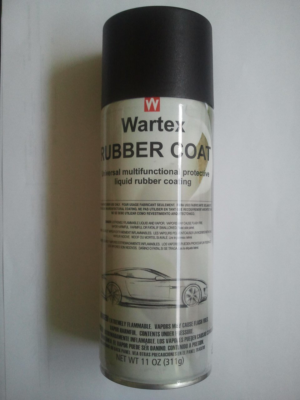 Жидкая резина WARTEX Rubber Сoat spray Black (Plasti Dip)