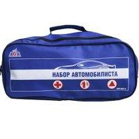Набор автомобилиста AGA №2 (аптечка, огнетушитель, знак аварийной остановки, перчатки) сумка - ткань. AGA-DOR-2