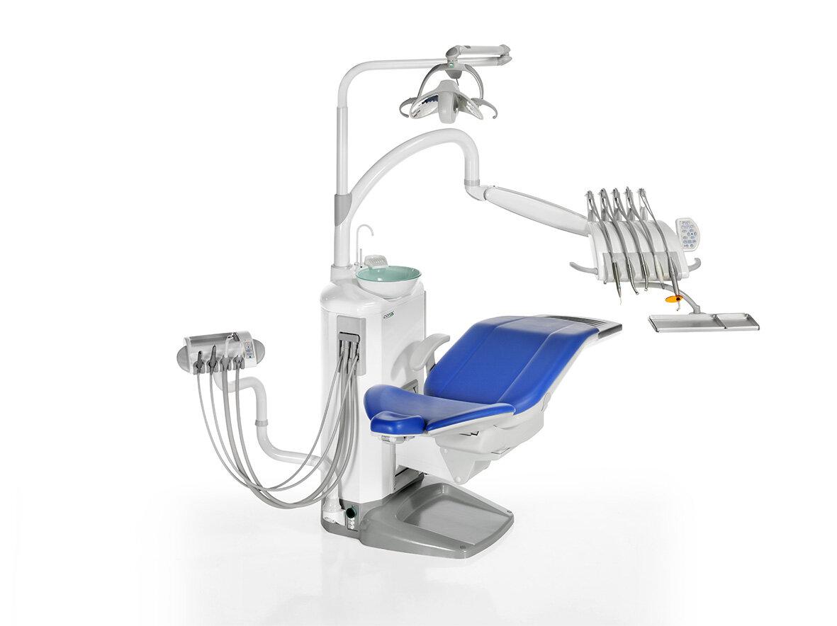 Fedesa Coral LUX - стоматологическая установка с верхней подачей инструментов