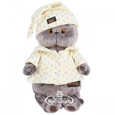 BudiBasa Мягкая игрушка Кот Басик в пижаме 19 см Ks19-024