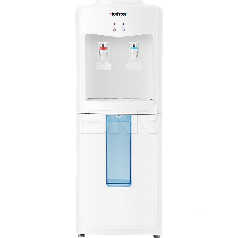 Кулер для воды HotFrost V118E, напольный, нагрев/охлаждениe, электронный, 2 крана, белый, 120211802