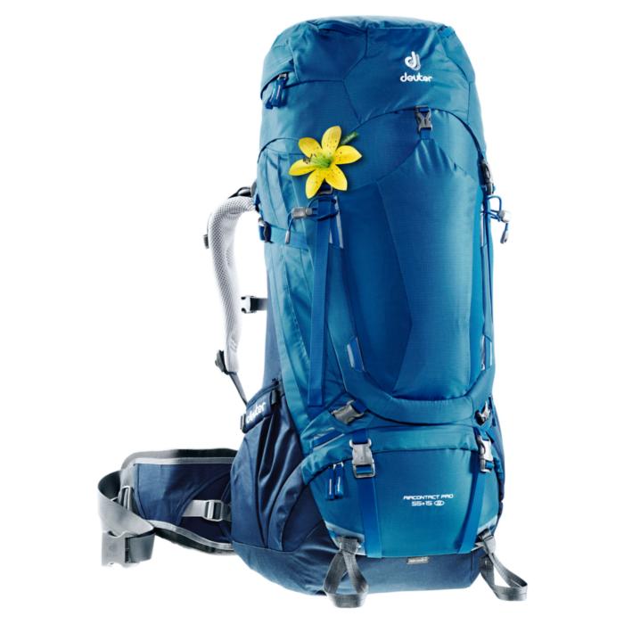 Рюкзак DEUTER Aircontact PRO 55 + 15 SL (3330017_3033) (синий/серый)