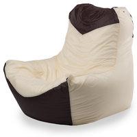 Кресло-мешок классическое 100x100x110, Оксфорд Бежевый и коричневый