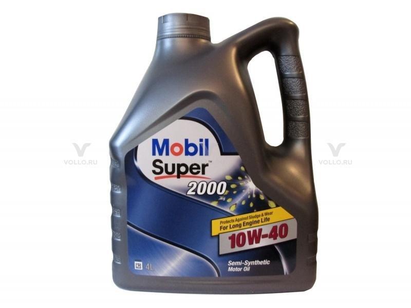 MOBIL SUPER 2000 X1 10W-40 , масло моторное полусинтетическое 10W40 4 л.