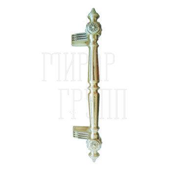 Дверные ручки-скобы Дверная ручка-скоба Pasini Patrizio (280/210 mm) матовая латунь