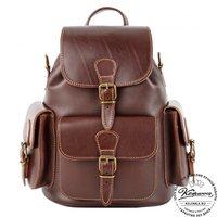 """Кожаный рюкзак """"Классик 3"""" (тёмно-коричневый)"""