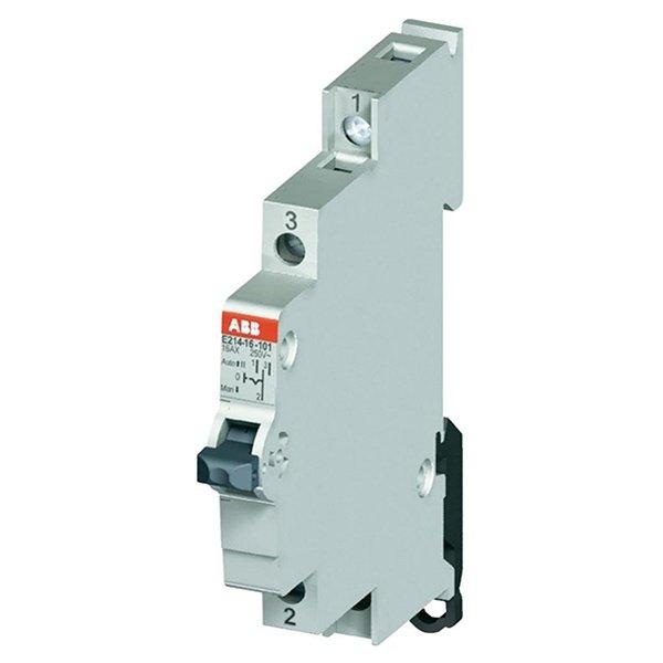 Модульный переключатель ABB E214-16-101 один переключающий контакт 16A (I-0-II) (2CCA703025R0001)
