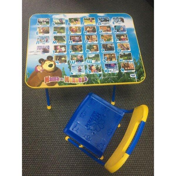 Комплект детской мебели Маши и Медведь, Голубой