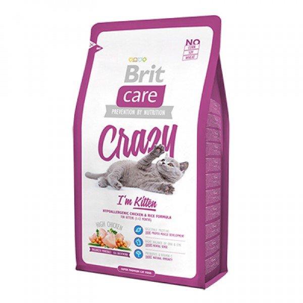Корм Брит для котят, беременных и кормящих кошек Brit Care Cat Crazy Kitten 2 кг