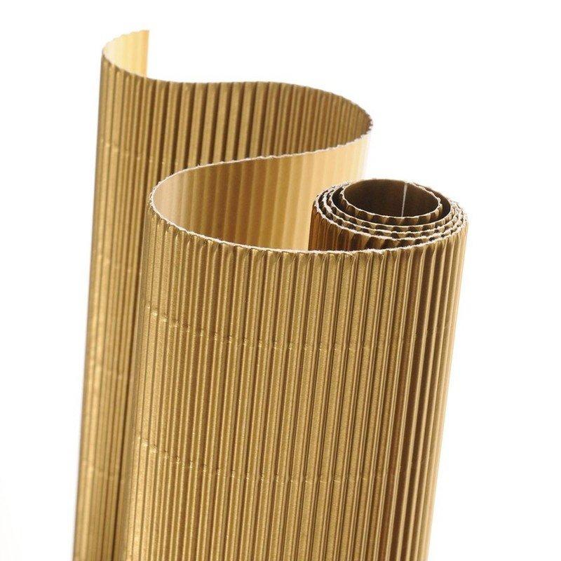 Картон гофрированный Canson Картон гофрированный цветной CANSON, 300г/м2, рулон 50х70см, 81 Золотой металлик; 10рул./упак.